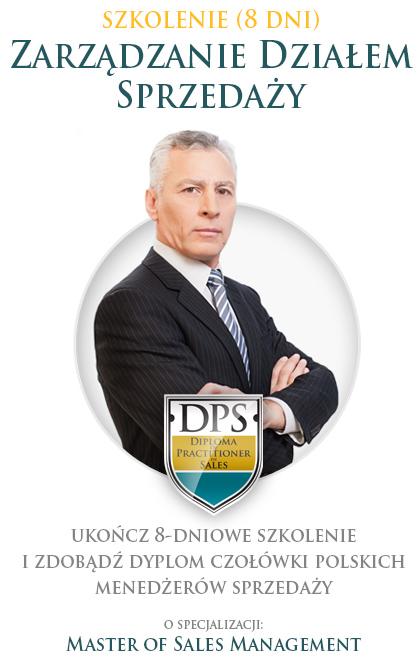 Szkolenie sprzedażowe - 8 dni. Zarządzanie Działem Sprzedaży. Ukończ 8-dniowe szkolenie i zdobądź dyplom czołówki polskich menedżerów sprzedaży o specjalizacji Master of Sales Management.
