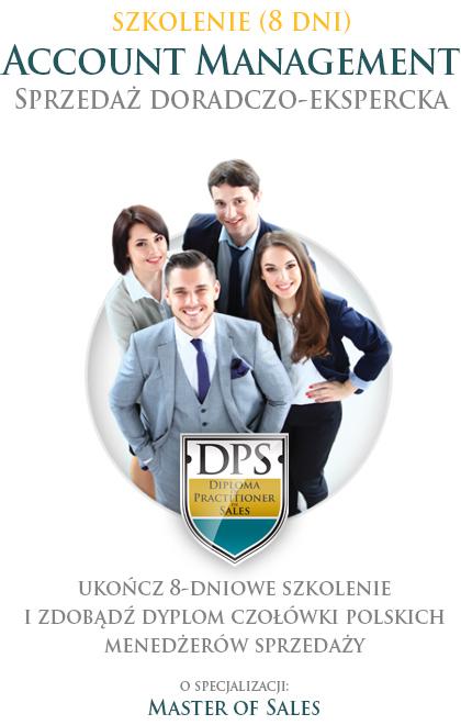 Szkolenie sprzedażowe - 8 dni. Account Management Sprzedaż Doradczo-Ekspercka. Ukończ 8-dniowe szkolenie i zdobądź dyplom czołówki polskich menedżerów sprzedaży o specjalizacji Master of Sales.