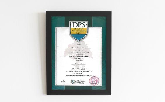 Dyplom Praktyka Sprzedaży